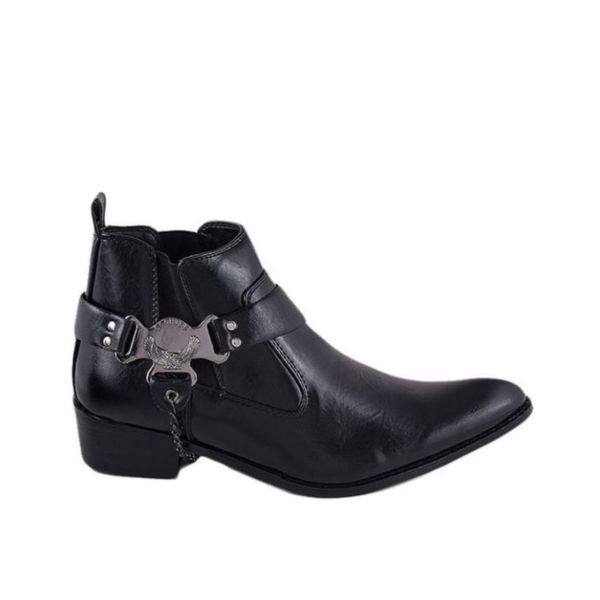 bf84a45c9a82 Black Leather Cowboy Shoes For Men - Buy Shoes Online In Pakistan